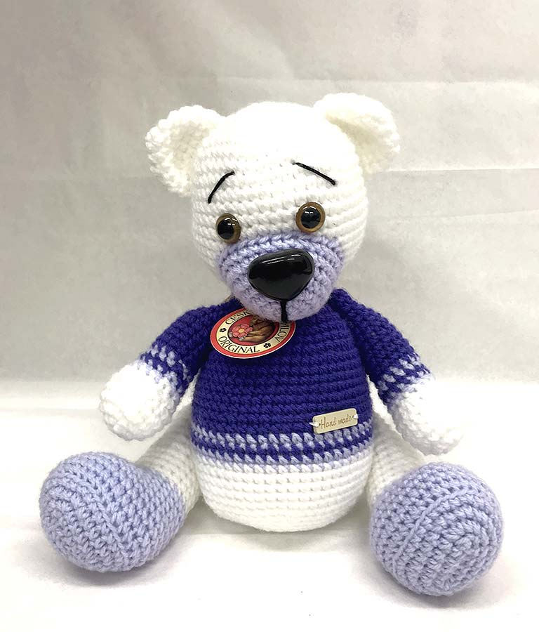 Crocheted bear, Czech Krumlov Original