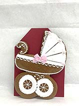 Painted Gingerbread - Baby-carriage