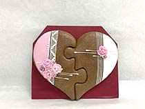 Painted Gingerbread - Heart puzzle