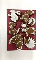 Painted Gingerbread - Set of animals