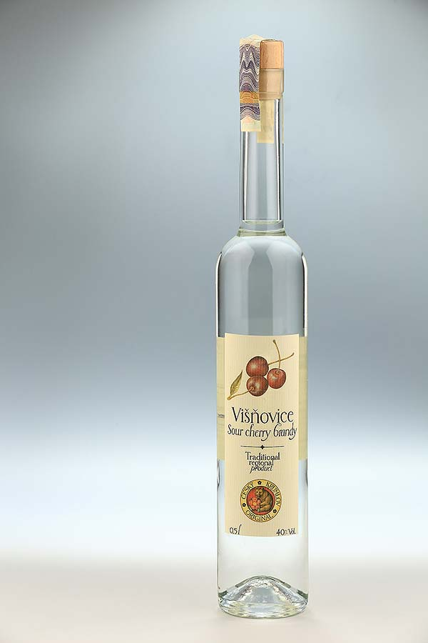 Sour cherry brandy 0,5l, Czech Krumlov Original